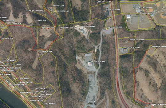The proposed asphalt plant would be located inside the McCrary Stone Service quarry at 3807 U.S. 25-70.