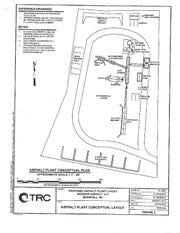 A conditional use application filed by Madison Asphalt LLC includes this diagram of the proposed plant.