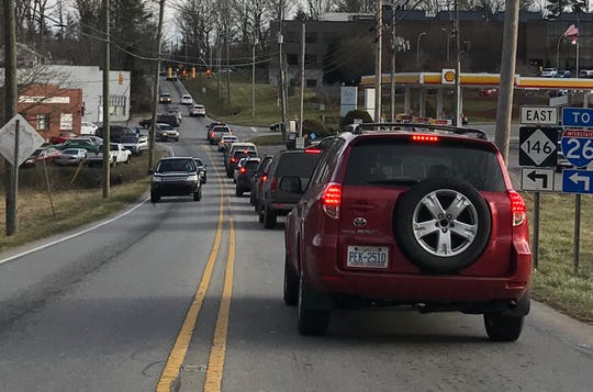 The intersection of Brevard Road and Long Shoals Road is often another bottleneck, particularly around rush hour.