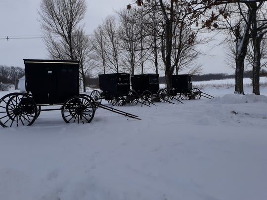: Getting around in buggies on the snow and ice with cold temperatures? Not for the faint of heart.