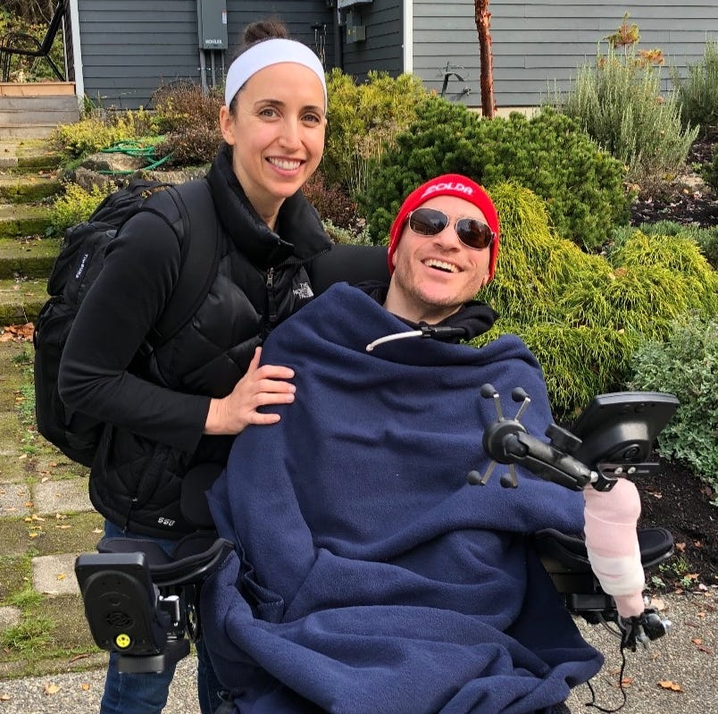 Bainbridge couple adjusts to life after collision that left man paralyzed