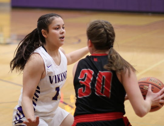 North Kitsap's Noey Barreith earned Olympic League 2A most valuable player honors in girls basketball during the winter.