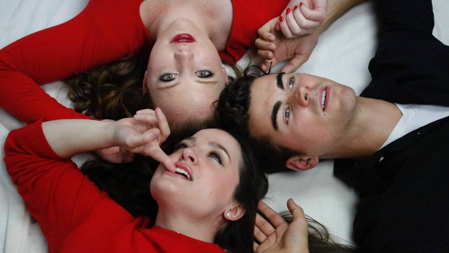"""An evening of cabaret titled """"Two's Company. Three's Complicated"""" will be performed by Anna Galavis (clockwise from top left), Duncan Menzies and Rebecca Peterson Feb. 15 and 16 at Rolling Bay Hall on Bainbridge Island."""