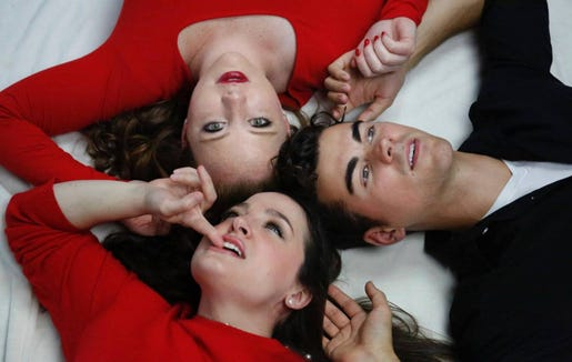 "An evening of cabaret titled ""Two's Company. Three's Complicated"" will be performed by Anna Galavis (clockwise from top left), Duncan Menzies and Rebecca Peterson Feb. 15 and 16 at Rolling Bay Hall on Bainbridge Island."