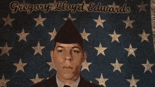 Gregory Edwards died Dec. 10, 2018. His widow Kathleen Edwards says the combat veteran suffered from PTSD, suspects something happened after he was arrested Dec. 9 at Walmart, then taken to jail.