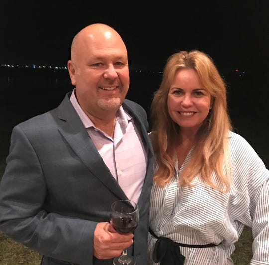 Chris Dearden of Dearden Wines from Napa, California, and Bobbie Dyer recently hosted a wine dinner at Dyer's Indialantic home.