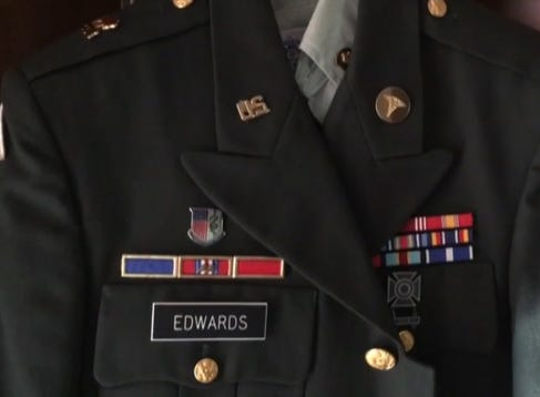 Combat veteran Gregory Edwards died Dec. 10, 2018. His widow, fellow veteran Kathleen Edwards, says he suffered from PTSD, suspects something happened after his Dec. 9 arrest at Walmart, afer he was taken to the county jail.