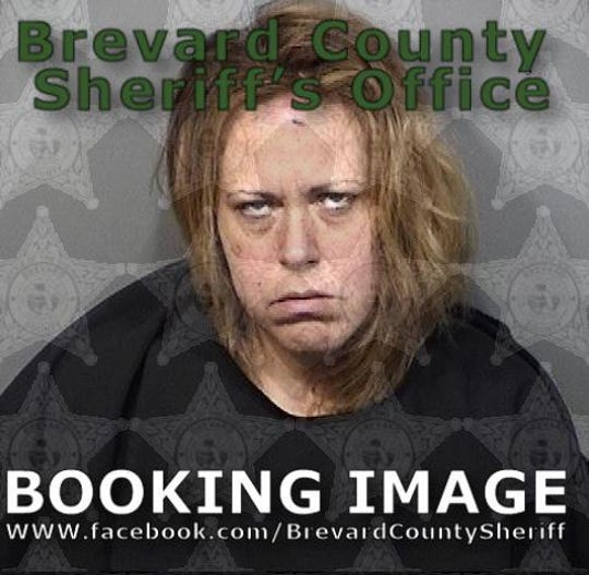 Mariah Dusak, 42, charged with aggravated assault on a law enforcement officer.