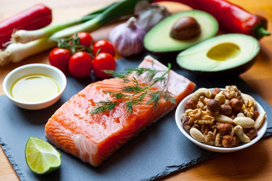 Fill your plate with fresh fruits and vegetables, healthy fats, whole grains, nuts and legumes and eat fish at least twice a week.