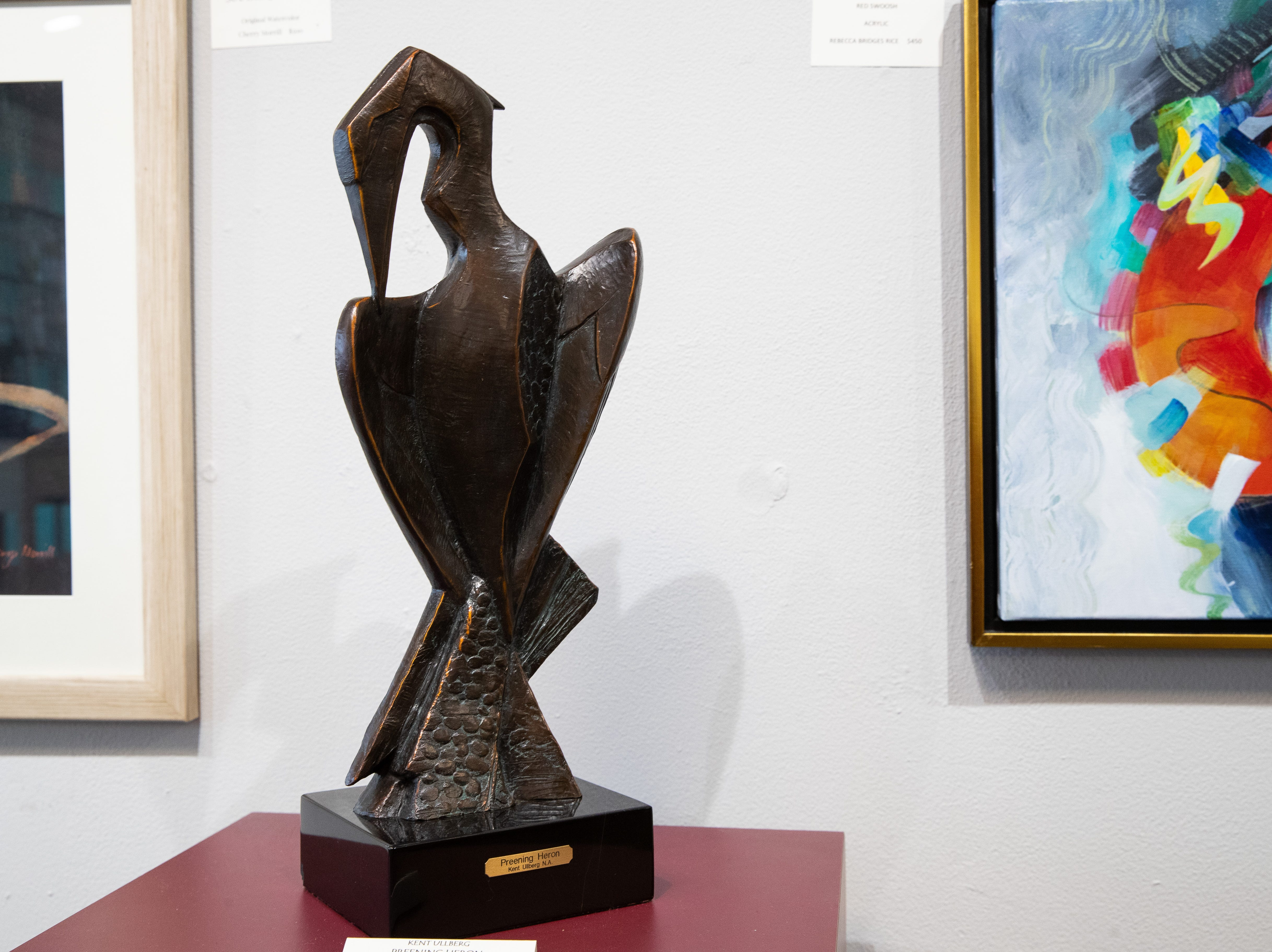 Kent Ullberg sculpture at the Wind Way Gallery at 203 South Austin Street in Rockport.