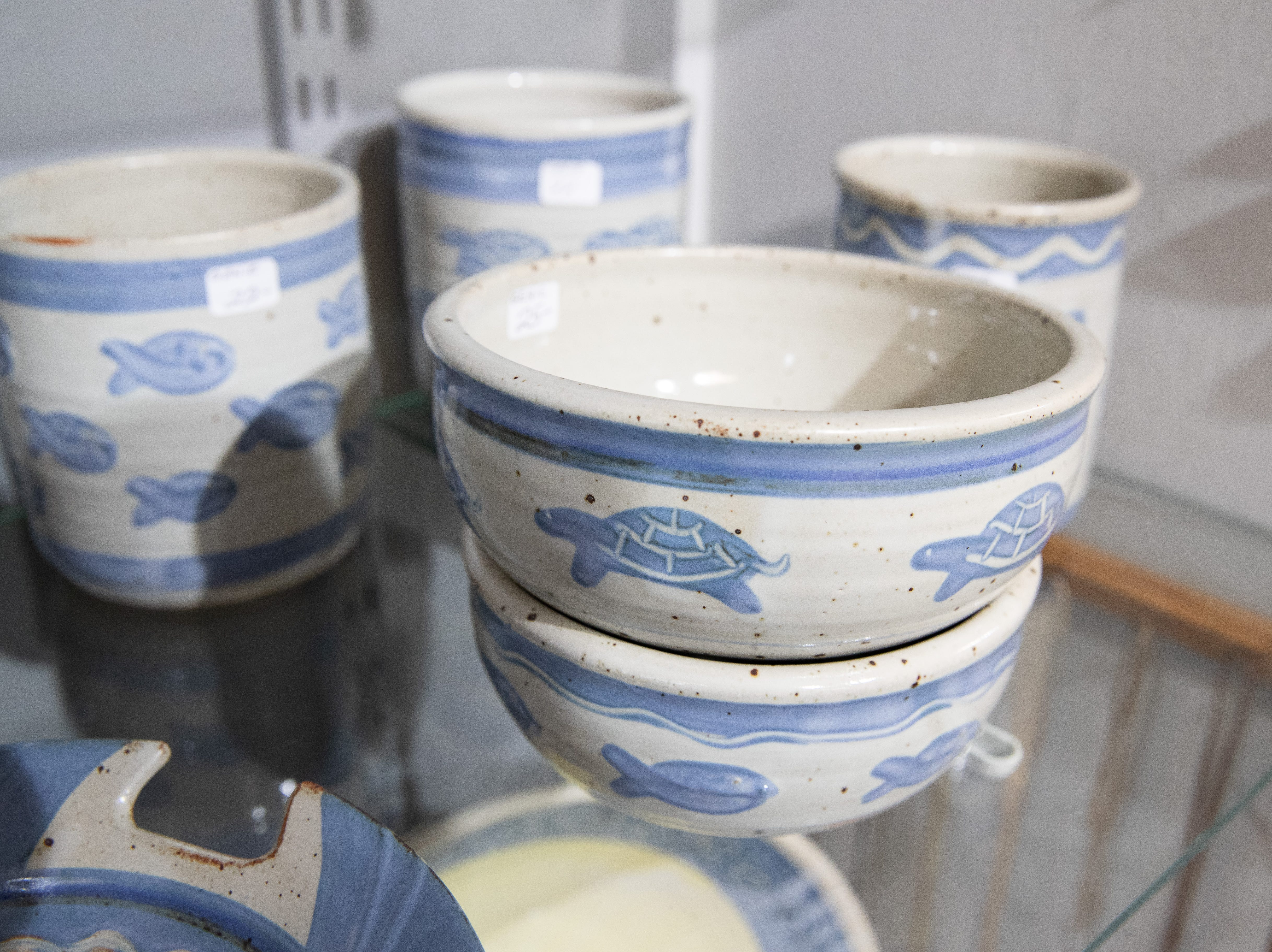 Ceramics and pottery on display at the Wind Way Gallery at 203 South Austin Street in Rockport.