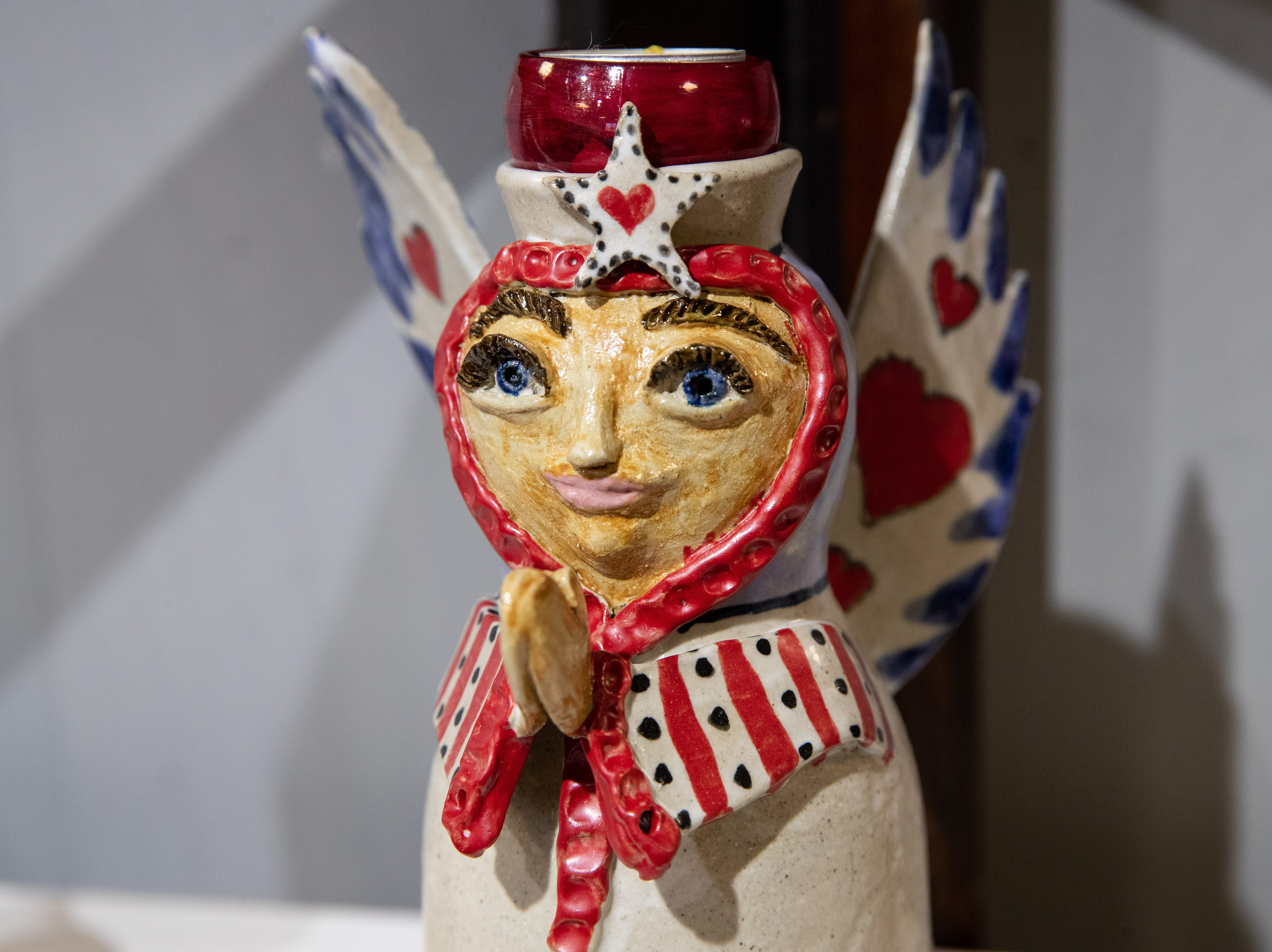Ceramics and pottery by Betty Shamel at the Wind Way Gallery at 203 South Austin Street in Rockport.