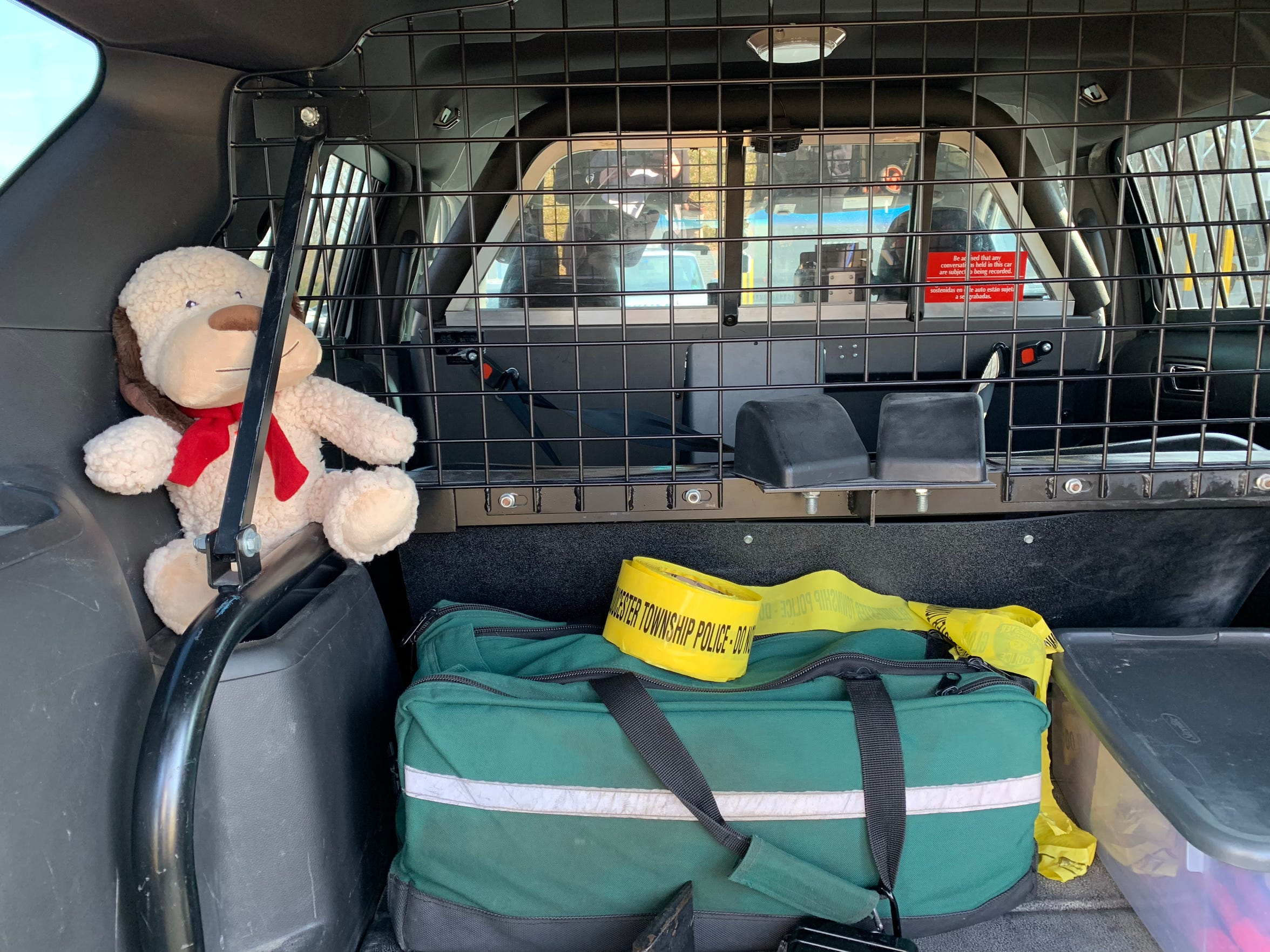 The stuffed animals in Gloucester Township Police cruisers are used as tools for children officers encounter in high-stress situations to calm tension and put kids facing trauma at ease.