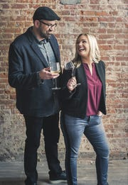 Matt and Kathleen Haws, owners of Ripple Wine Bar in Covington