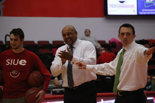 Former Austin Peay player and assistant coach Bubba Wells returned to the Dunn Center Thursday as an assistant with SIU Edwardsville.