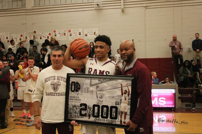 South River's Derrick Whitaker scored his 2,000th career point on Thursday, Feb. 7, 2019.