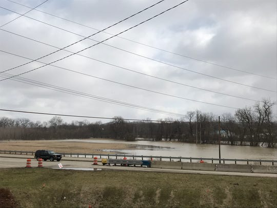 After days of rain, the Muskingum River in Coshocton is flooding nearby fields along Ohio 16.