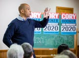 New Jersey Sen. Cory Booker, a presidential hopeful, talks about his family roots in Iowa