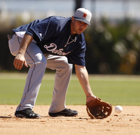 Nicholas Castellanos won the Tigers' starting third-base job in spring training in 2014.