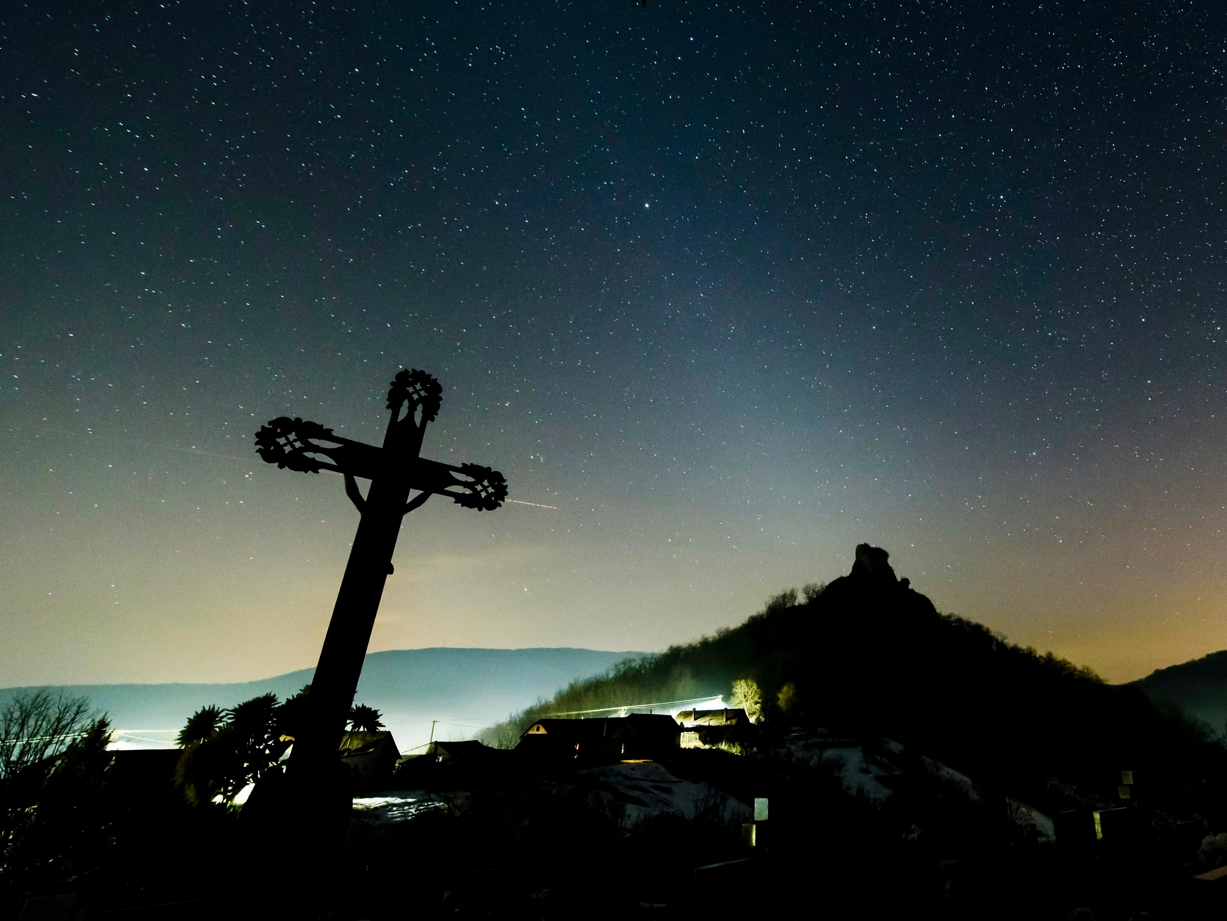 In a picture issued on Feb. 8, 2019 the white glow of zodiacal light is visible in the night sky as photographed near Hajnacka, southern Slovakia the night before. The faint light is caused by interplanetary dust reflecting sunlight. The astronomical phenomenon in the temperate zones is most clearly visible in February and March after sunset and in September and October before sunrise, when the zodiac is positioned at a steep angle to the horizon.