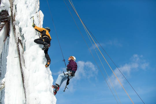Peabody Ice Climbing attracts visitors from across Michigan and the Midwest.