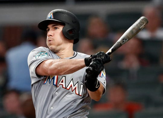 Miami Marlins All-Star catcher J.T. Realmuto has been traded to the Philadelphia Phillies for catcher Jorge Alfaro, two pitching prospects and international bonus pool allocation.