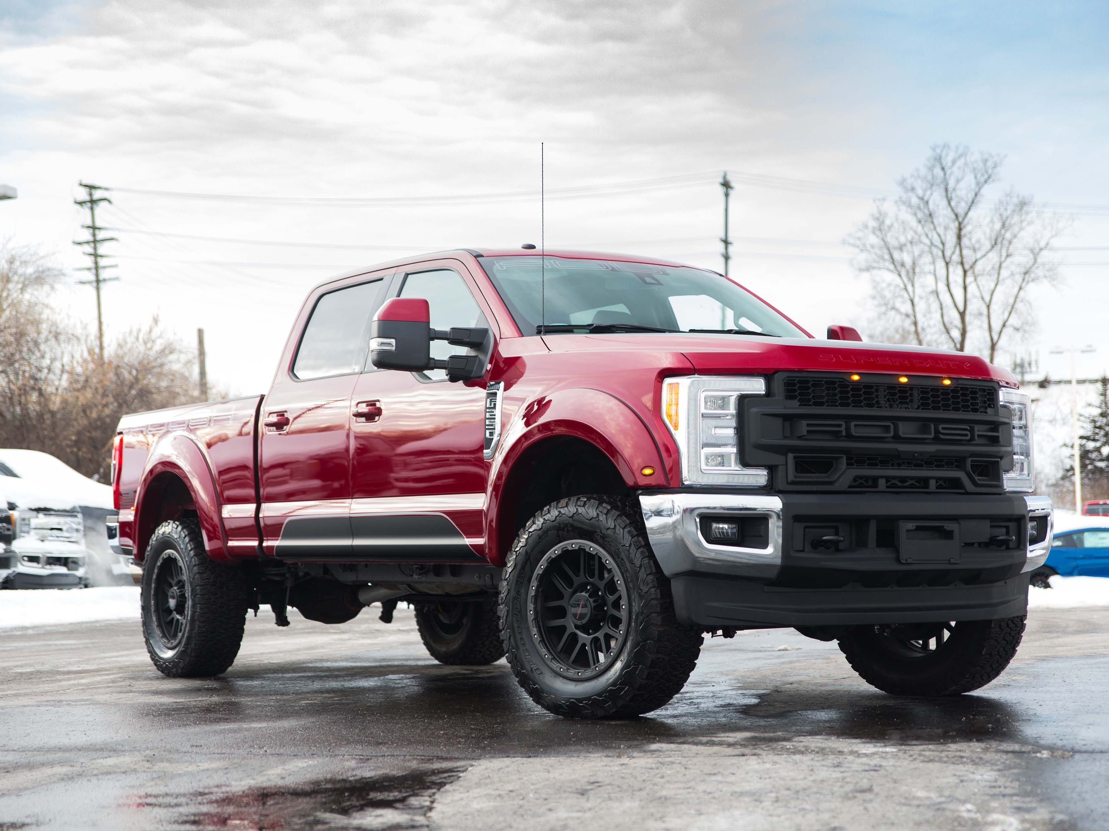 The macho truck craze has also spawned pickup mutants like the Rough Ford F-250 Super Duty - an intimidating truck that can be ordered with Roush mods through Ford dealership.