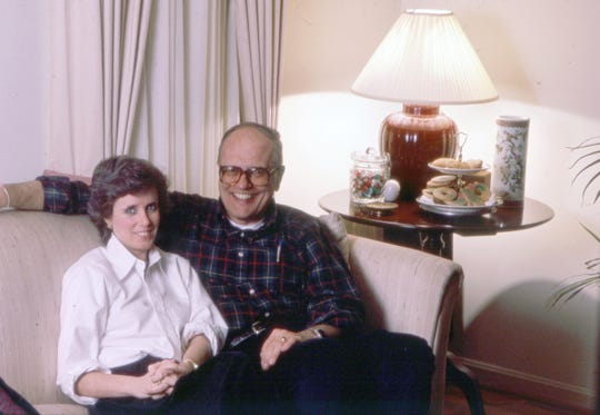Debbie and John Dingell in 1985.  J