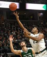 """""""You either (man) up or shut up,"""" Michigan State's Kenny Goins said Thursday, following three consecutive Spartans defeats."""