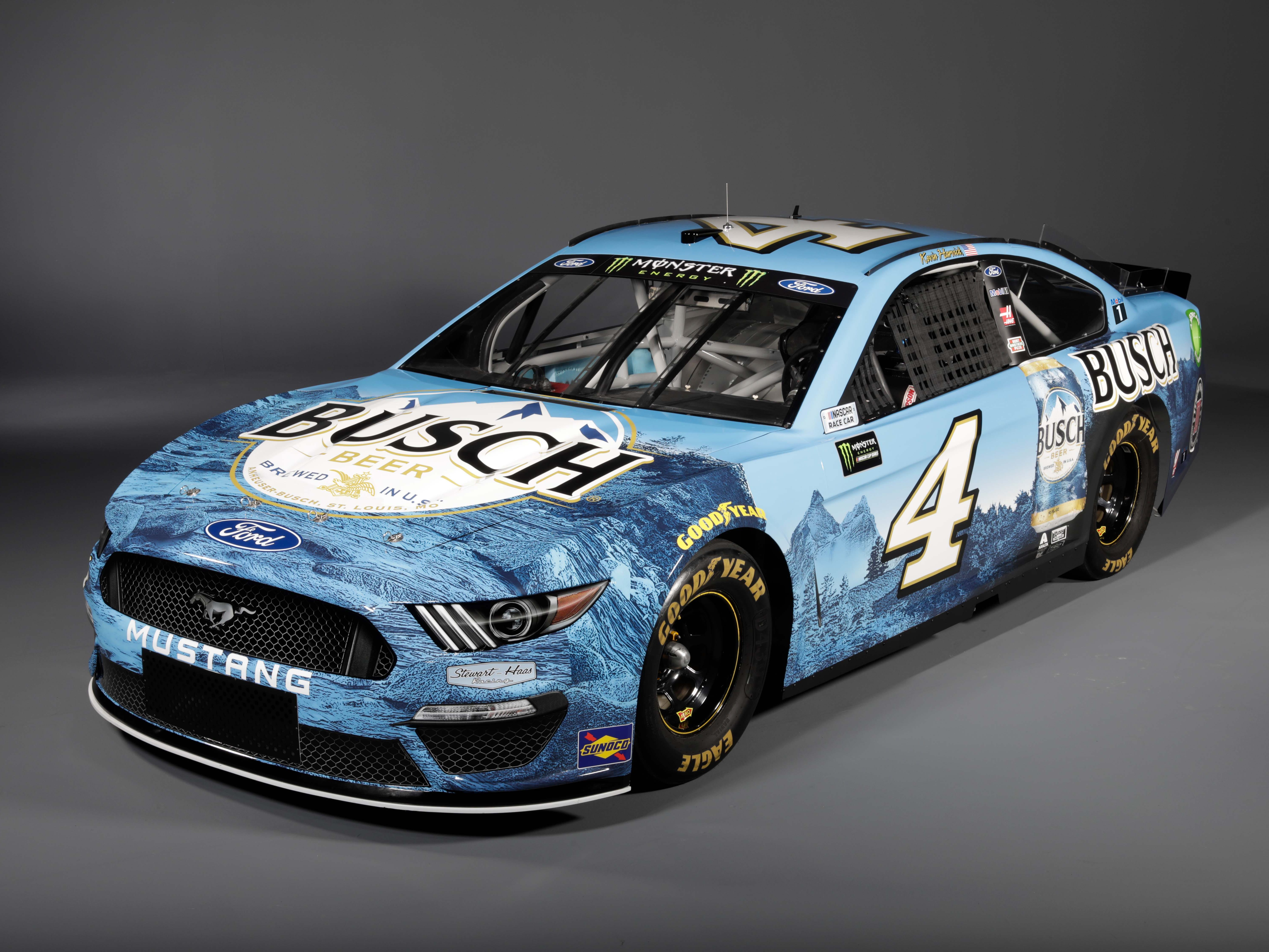 Stewart-Haas Racing has entered this #4 NASCAR Mustang for Kevin Harvick who nearly won the Cup title in 2018 in Ford's NASCAR Fusion.