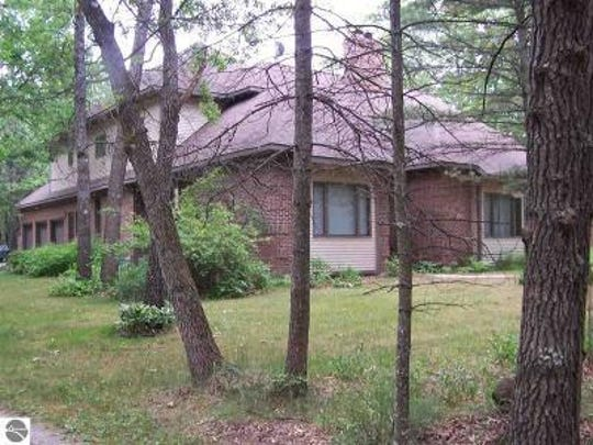 The 4,895 square-foot house is about 10 minutes from downtown Tawas City and Lake Huron. Listed for $499,900, the house has four bedrooms, a library and five bathrooms.