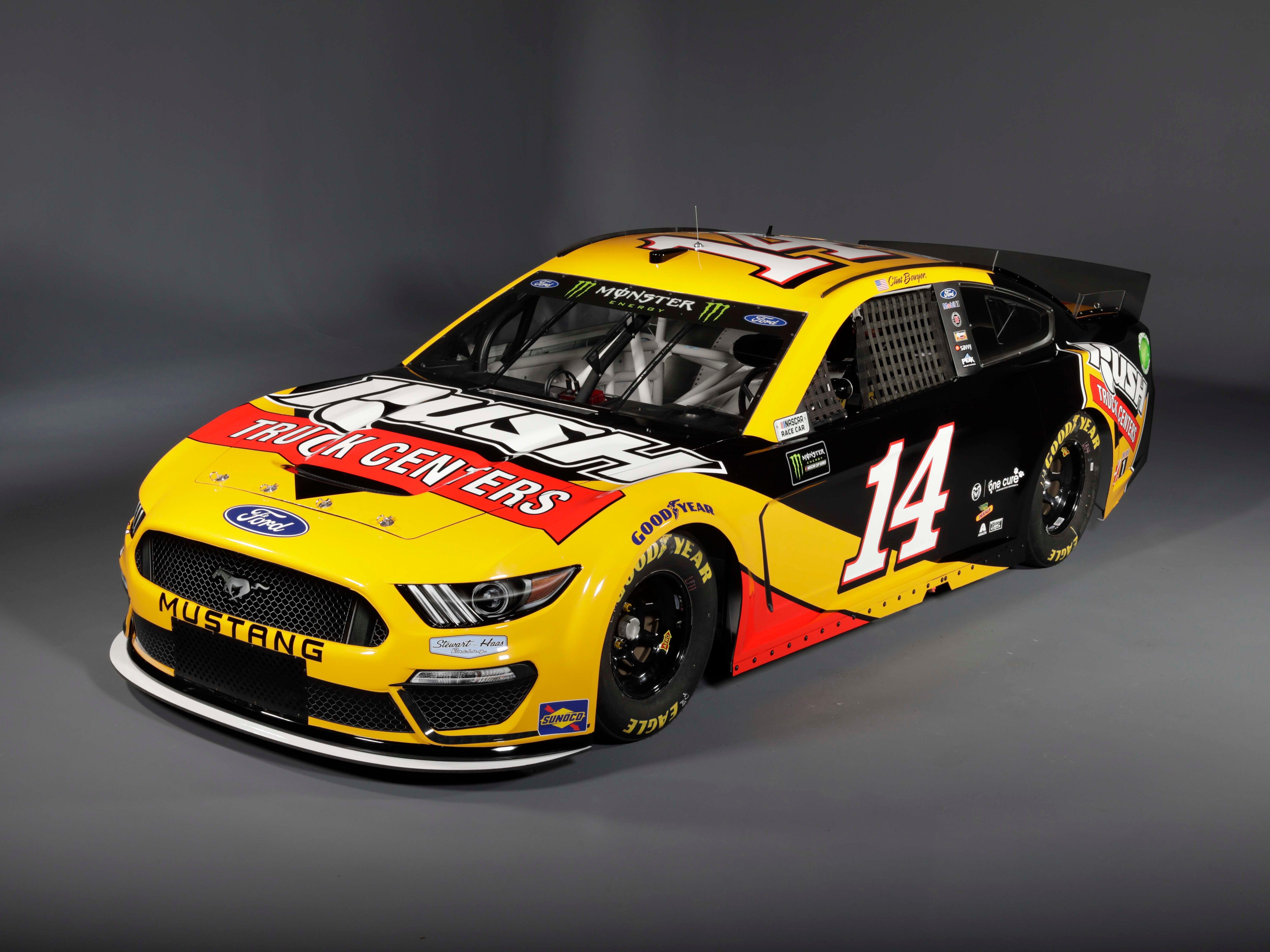 Stewart-Haas Racing NASCAR Mustang #14 of Clint Boyer.