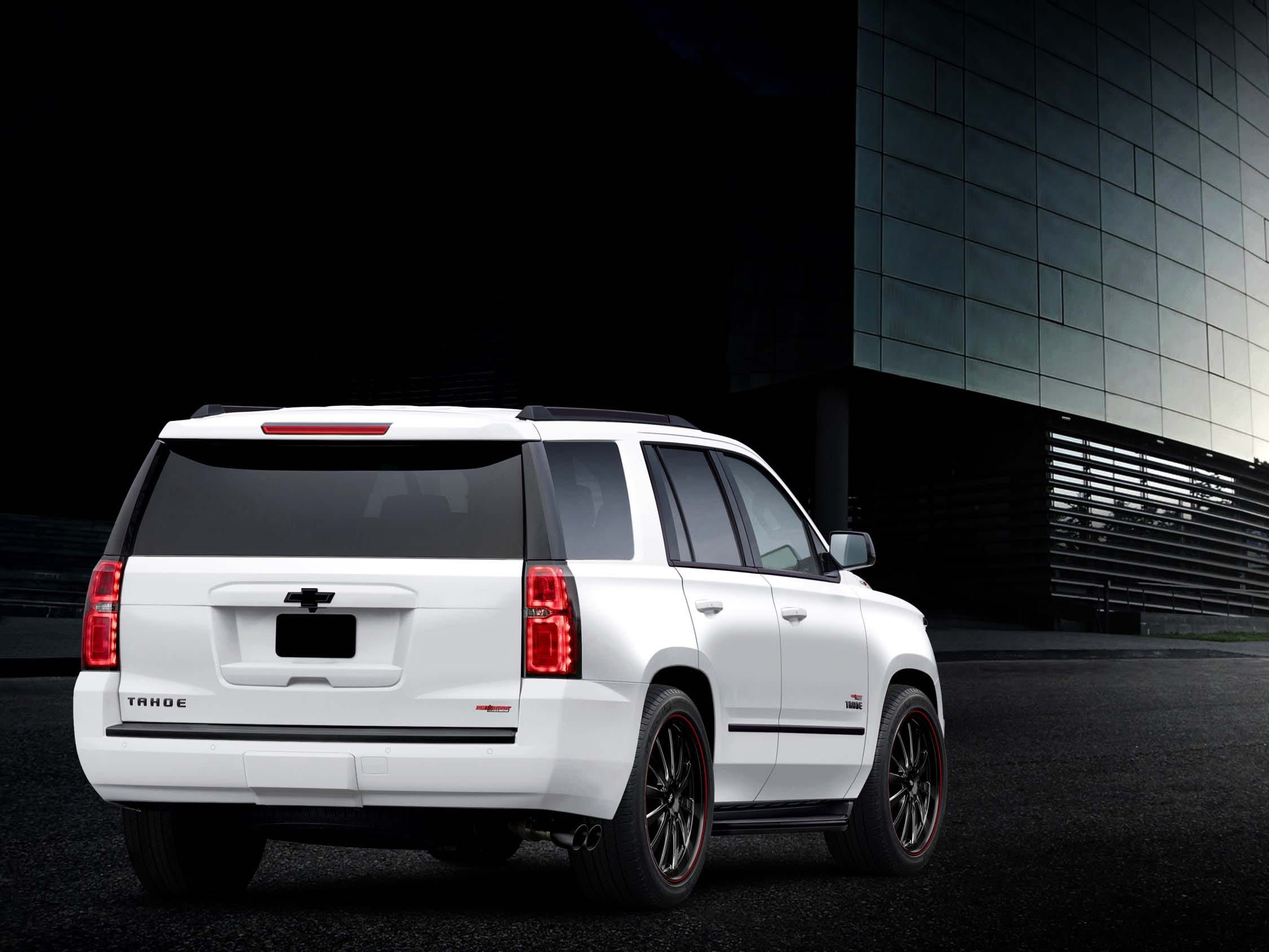 You'll know the 2019 High-Output Chevy Tahoe/Suburban by its 1,000-hp badge on the tailgate and dual-exhaust blowing out the side.
