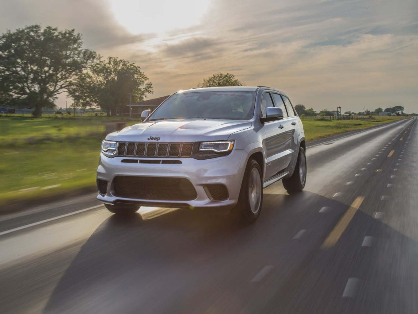 The three-row 2019 High-Output Chevy Tahoe/Suburban follows the two-row, Hennessey Jeep Grand Cherokee Trackhawk (picture) as after-market SUVs with more than 1,000 hp.
