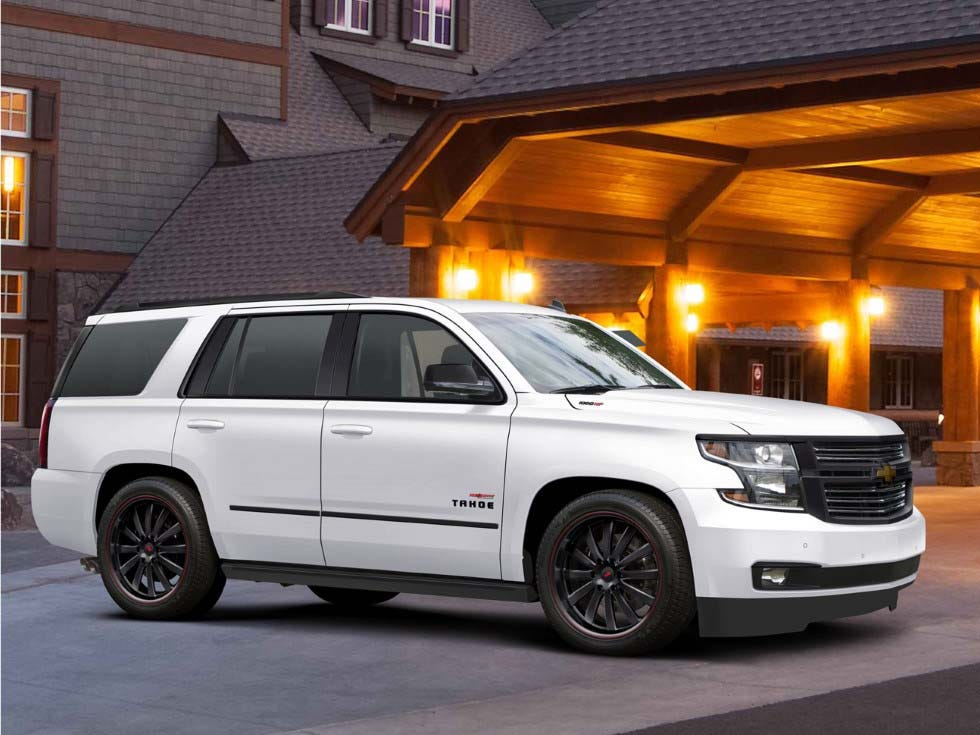 The 2019 High-Output Chevy Tahoe/Suburban is available with 22-inch, blacked-out wheels. On street tires the 1,000 ute will hit 155 mph - more if equipped with performance rubber.