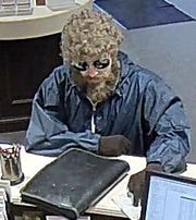 The suspect in a Feb. 8, 2019 bank robbery in Evansville.