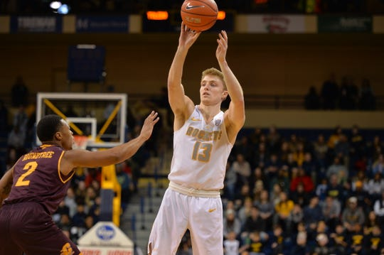 Reitz product Jaelan Sanford scored 1,789 career points at Toledo.