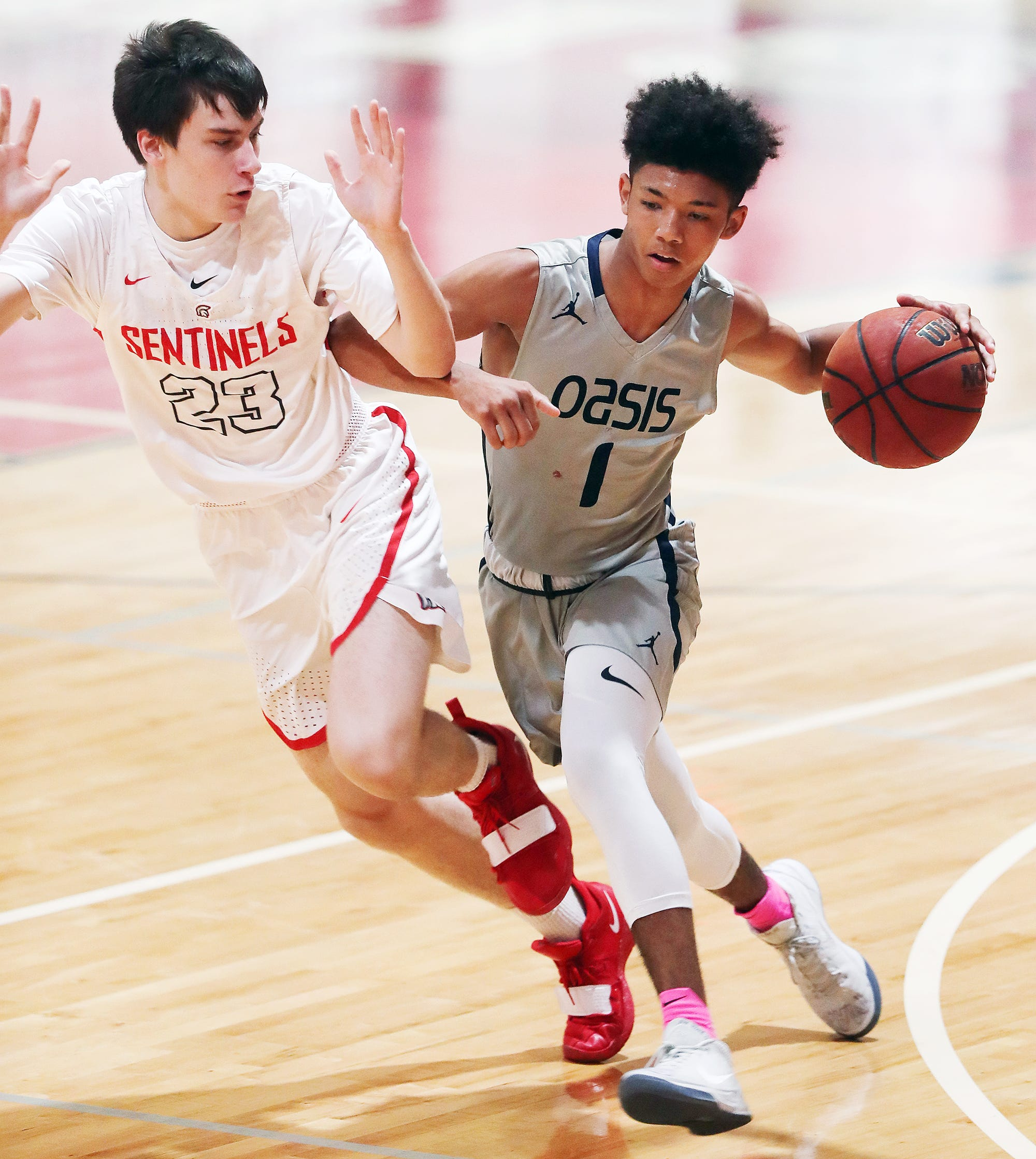 Oasis Charter High School senior point guard Taylon Hutchins, who was originally suspended for six weeks for allegedly cursing at an official during a Jan. 8 game, won his Florida High School Athletic Association sectional appeal in Bradenton on Thursday morning. He was immediately reinstated and returned to the court Thursday night at Evangelical Christian School in Fort Myers.