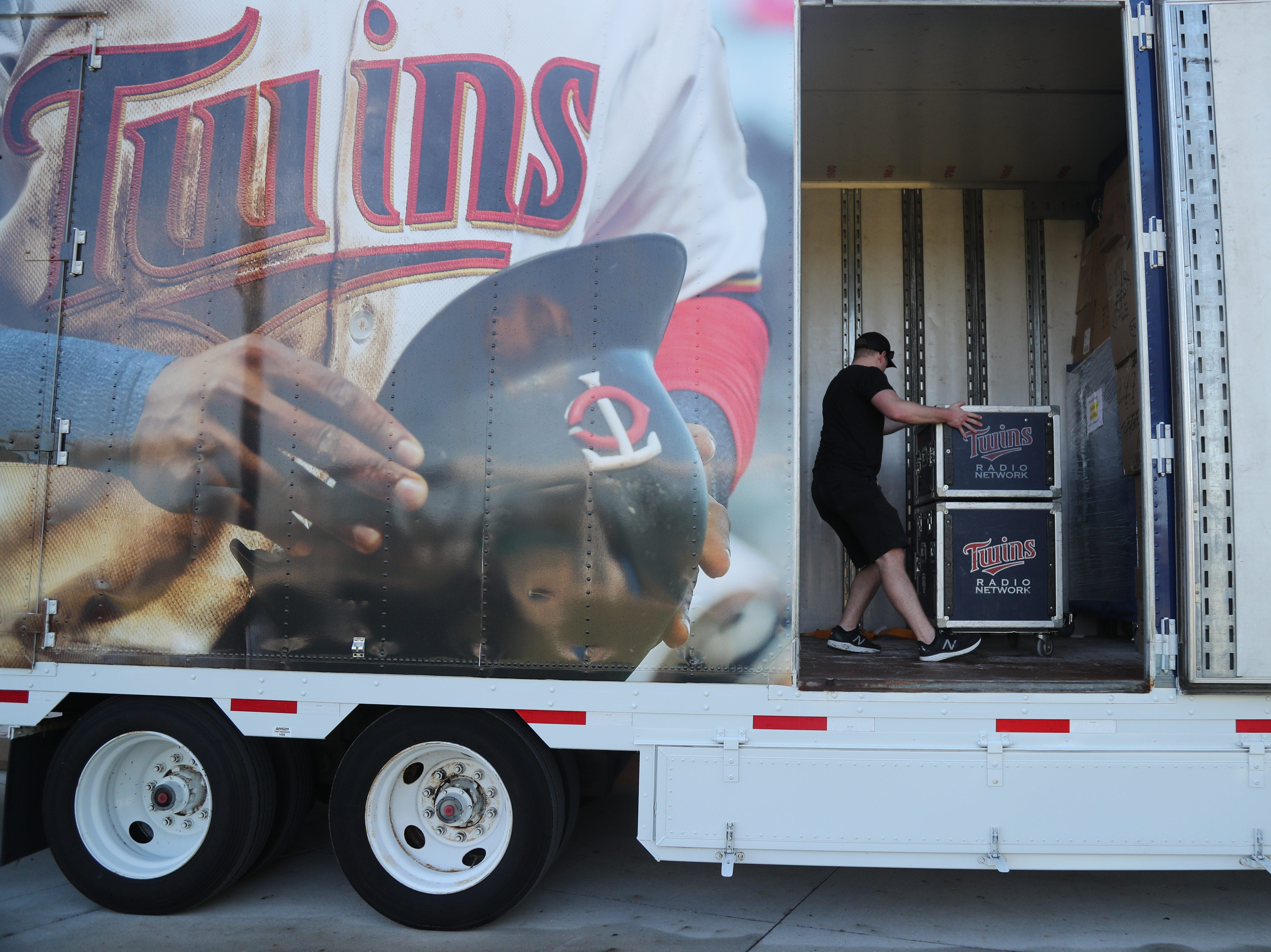 The Minnesota Twins truck arrived on Friday morning, Feb. 8, 2019, at the Century Link Sports Complex in Fort Myers. The first Spring Training practice for pitchers and catchers is on Wednesday.