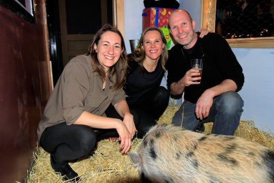 Pictured from left to right: Jolene Schalper, Emilia Ploplys and Matthias Schalper