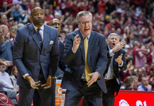 Coach Fran McCaffery (right) has his Iowa basketball team poised for an NCAA Tournament berth. Could the Hawkeyes open play in Wells Fargo Arena in Des Moines. It's a longshot, but there is a path.