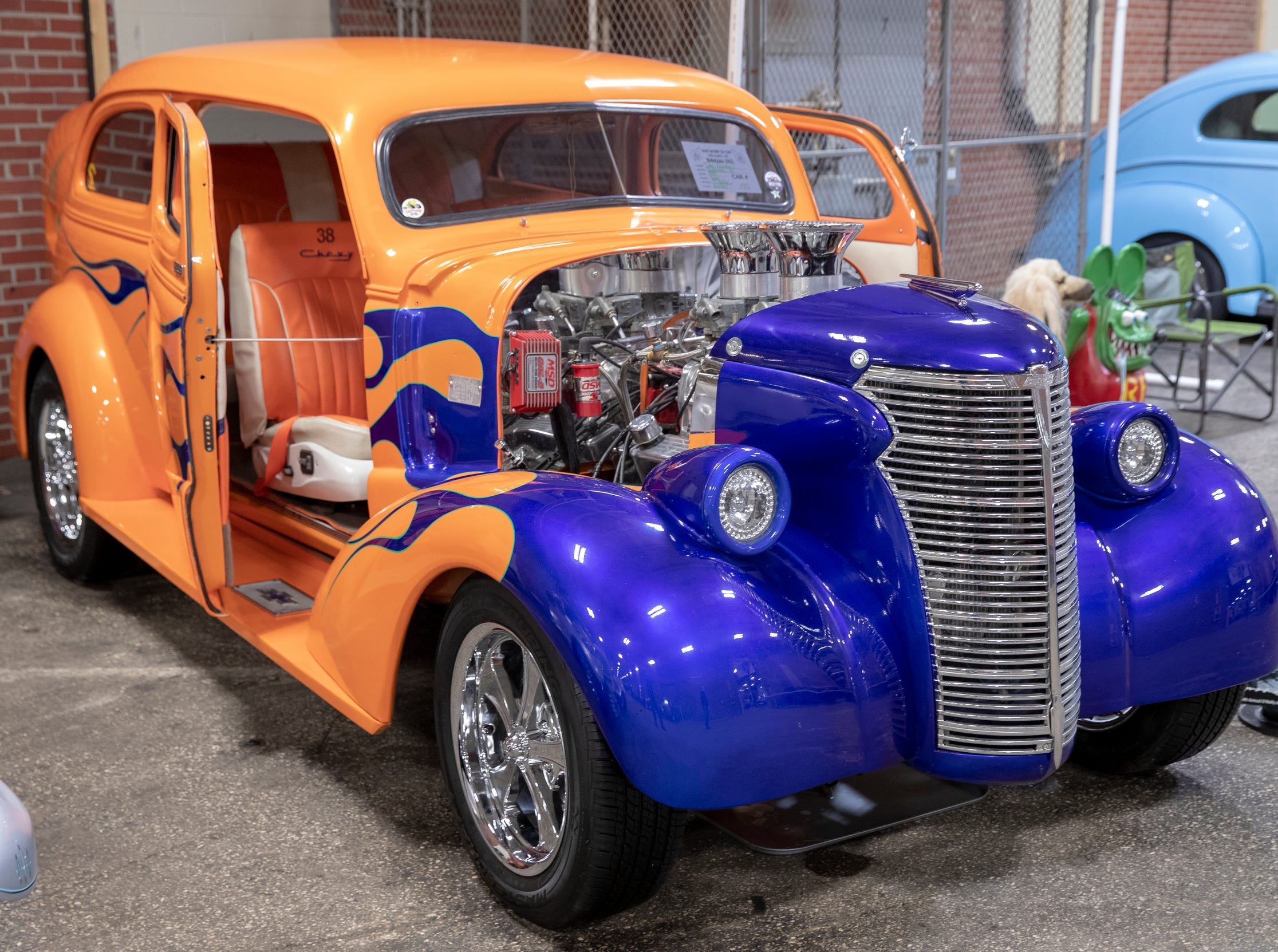 A 1938 Chevy, at World of Wheels at the Indiana State Fairgrounds, Indianapolis, Friday, Feb. 8, 2019. The event runs through the weekend and features four big rooms of stock and heavily customized cars.