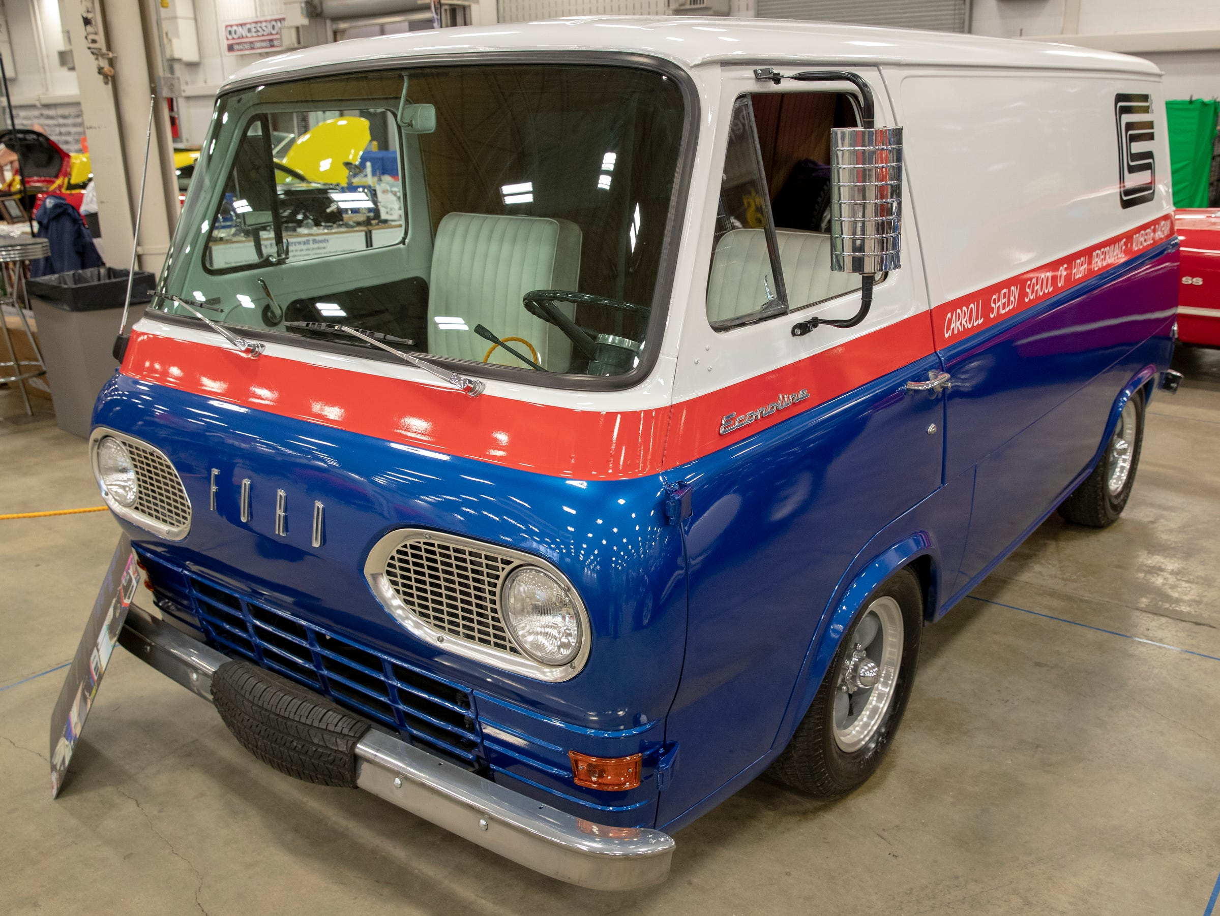 A 1962 Ford Econoline Van, Shelby Tribute, at World of Wheels at the Indiana State Fairgrounds, Indianapolis, Friday, Feb. 8, 2019. The event runs through the weekend and features four big rooms of stock and heavily customized cars.