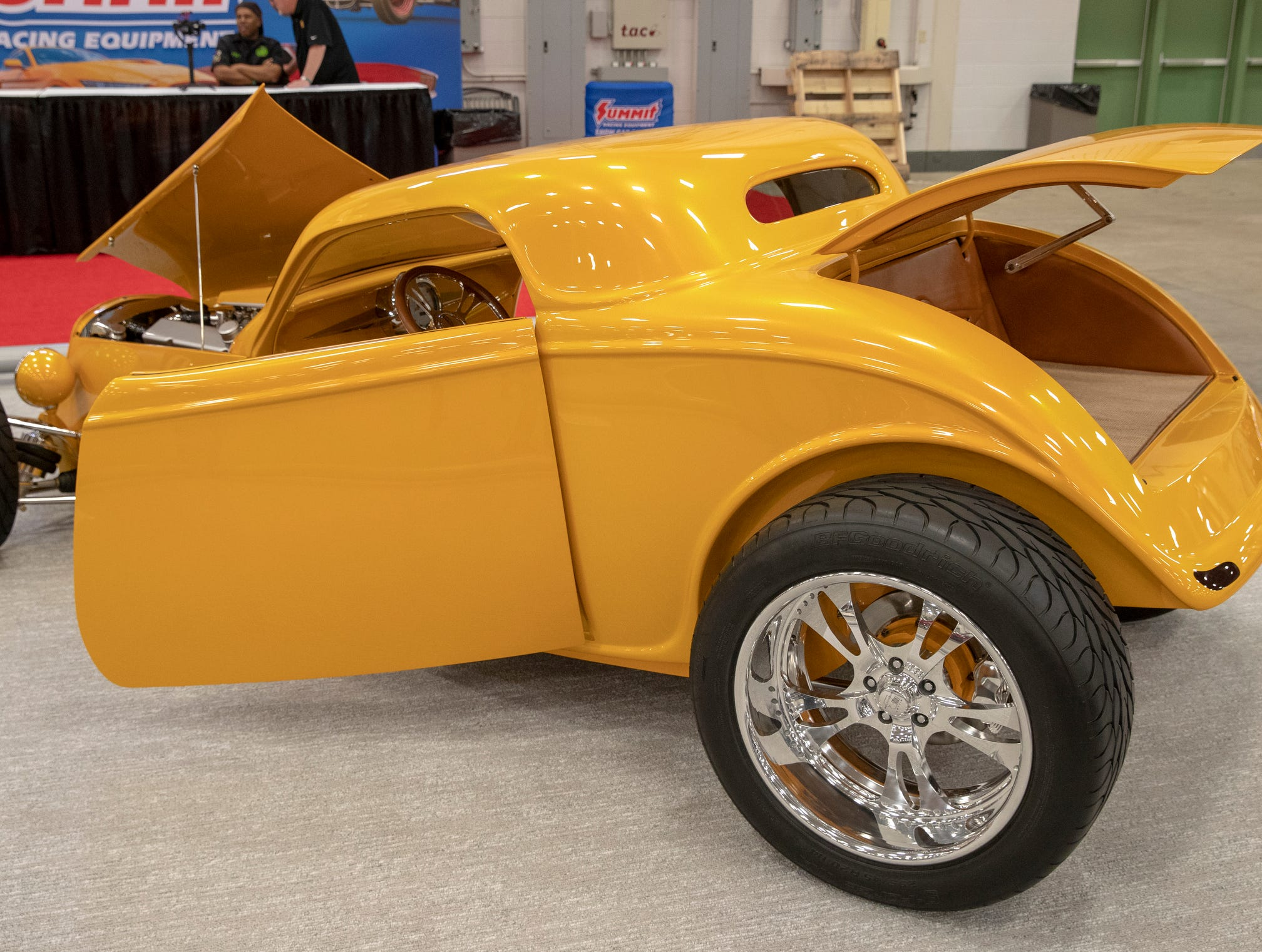 A 1933 Speedstar, at World of Wheels at the Indiana State Fairgrounds, Indianapolis, Friday, Feb. 8, 2019. The event runs through the weekend and features four big rooms of stock and heavily customized cars.