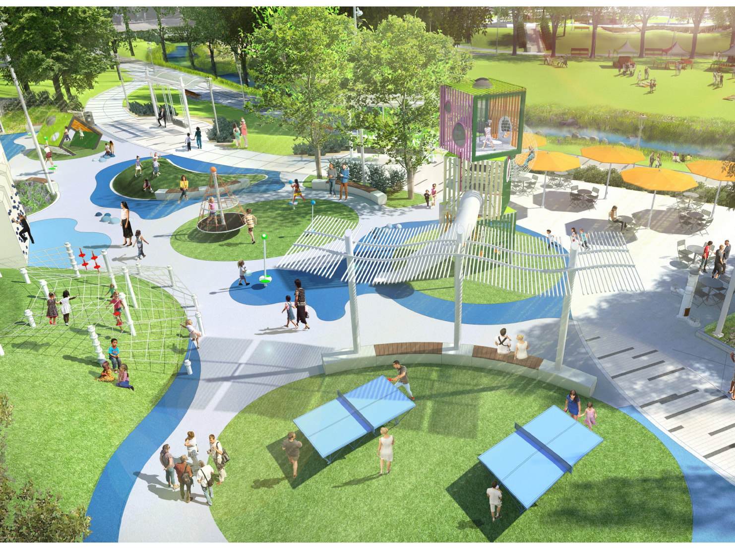 Greenwood's reimagined Old City Park will feature a 20-foot cube play tower that will be the third of its kind in the nation.