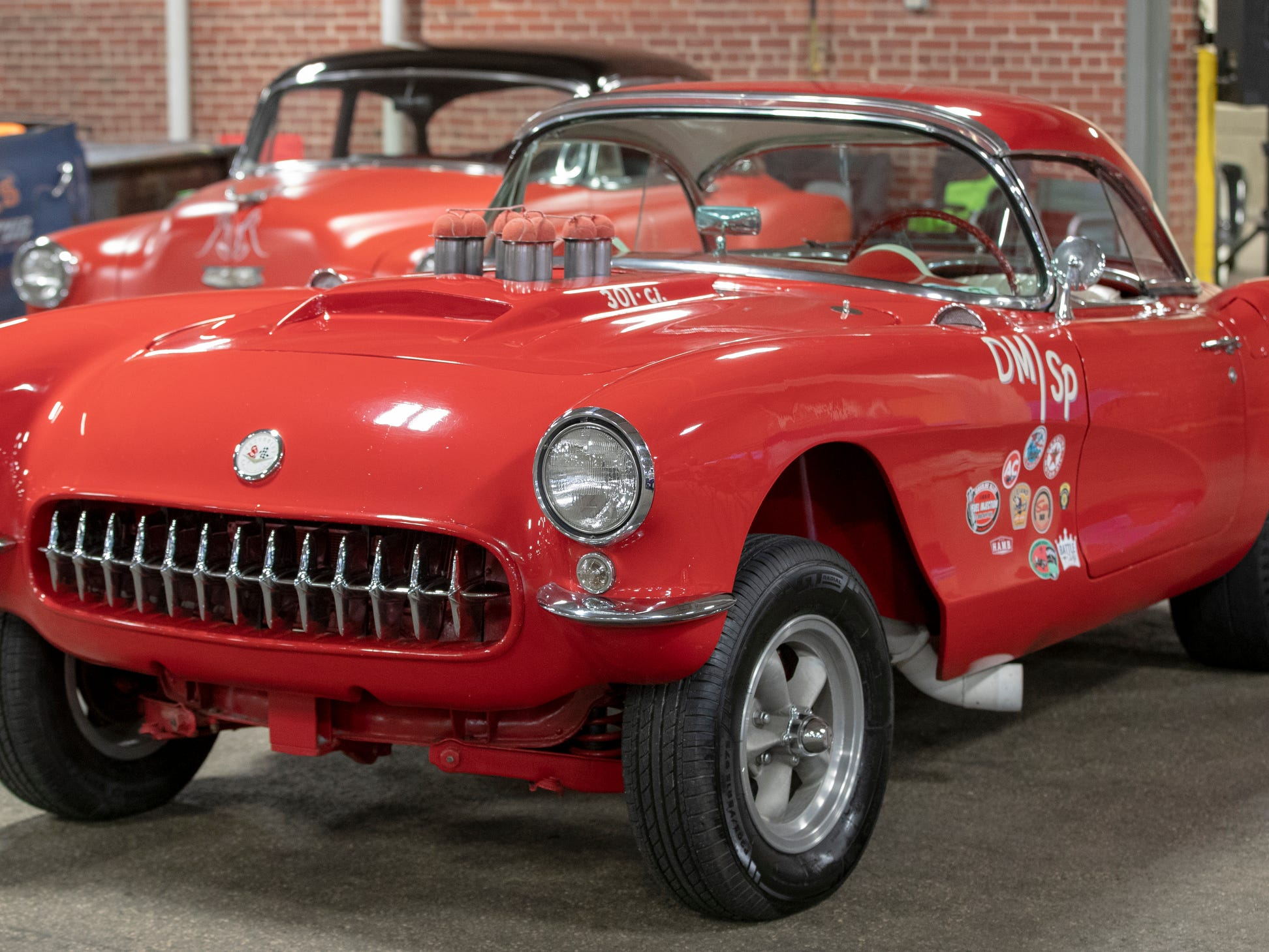 A 1956 Chevy Corvette, at World of Wheels at the Indiana State Fairgrounds, Indianapolis, Friday, Feb. 8, 2019. The event runs through the weekend and features four big rooms of stock and heavily customized cars.