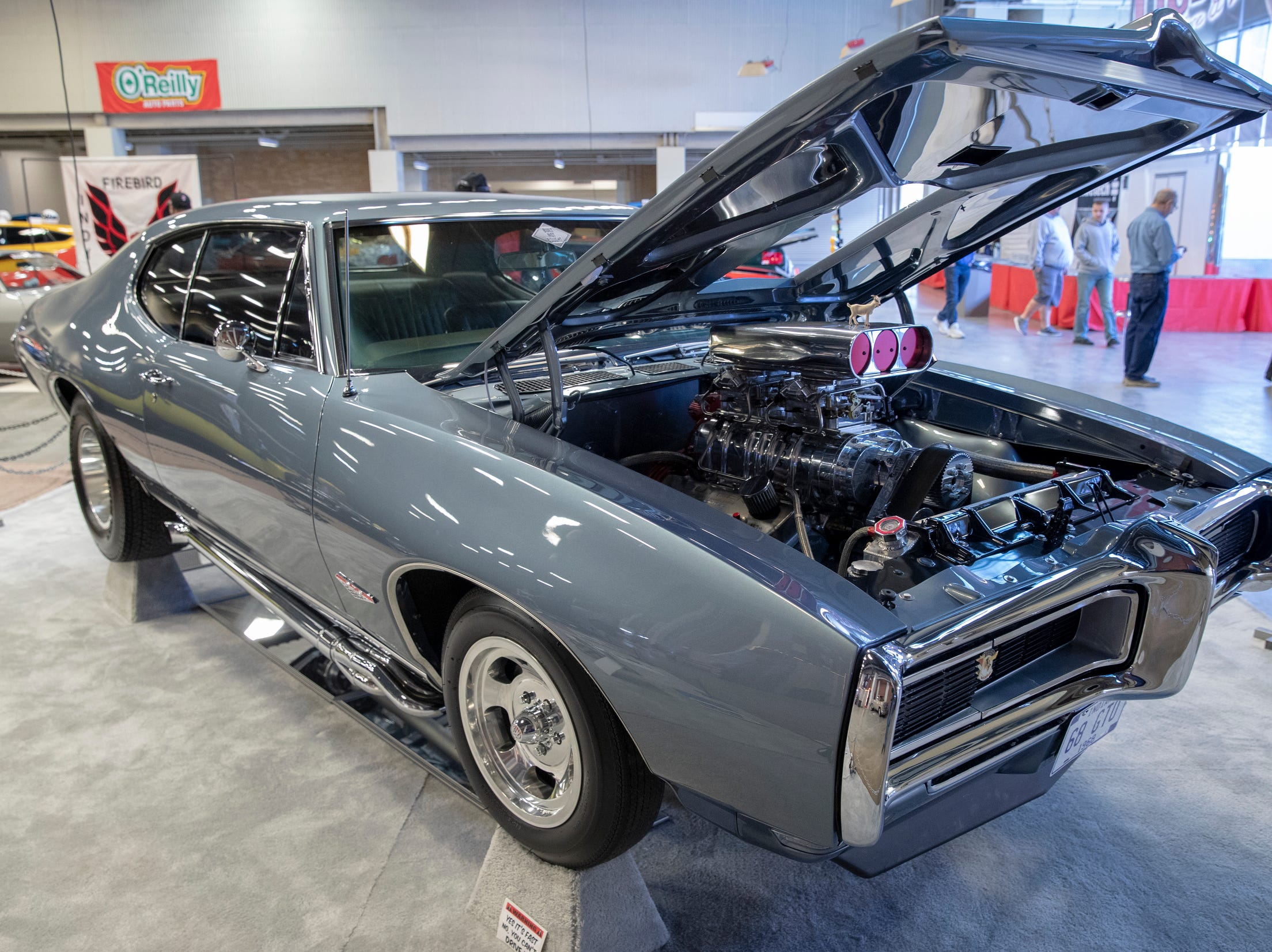 A 1968 Pontiac GTO, at World of Wheels at the Indiana State Fairgrounds, Indianapolis, Friday, Feb. 8, 2019. The event runs through the weekend and features four big rooms of stock and heavily customized cars.