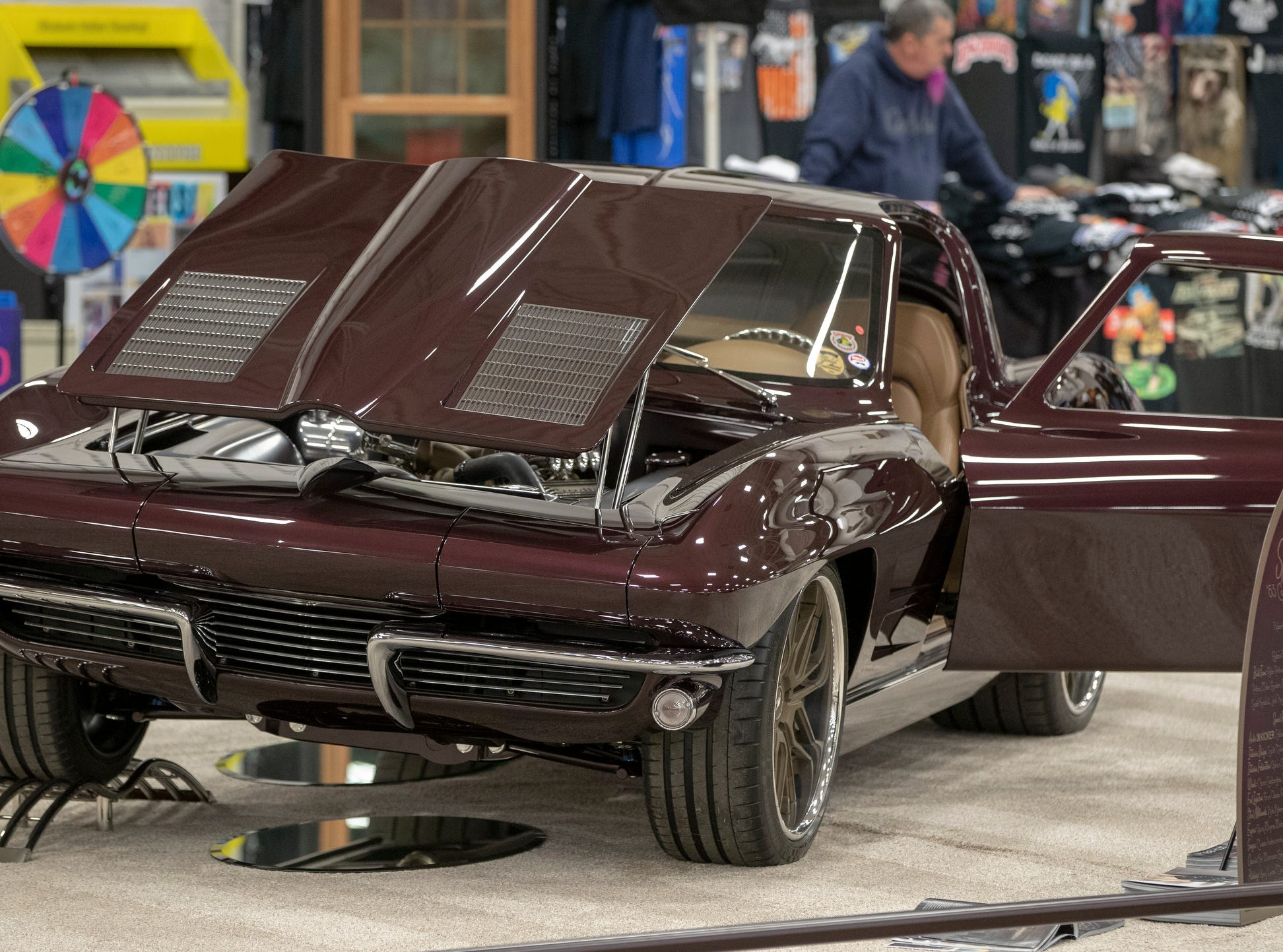 A 1963 Chevrolet Corvette, at World of Wheels at the Indiana State Fairgrounds, Indianapolis, Friday, Feb. 8, 2019. The event runs through the weekend and features four big rooms of stock and heavily customized cars.