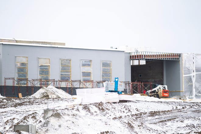 Construction continues at Christine Grant Elementary on Thursday, Feb. 7, 2019 on North Bend Drive in North Liberty, Iowa.