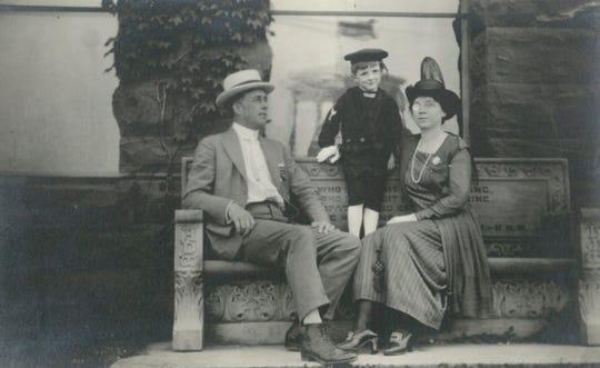 Zella White Stewart (right) pictured with her husband George Walter Stewart (left) and son, Rodney Stewart (center).